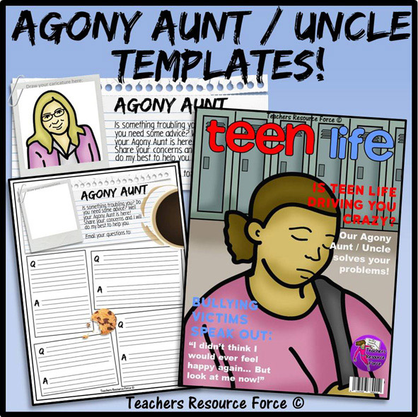 ... Resources > Starters and Plenaries > Agony Aunt / Uncle Worksheets