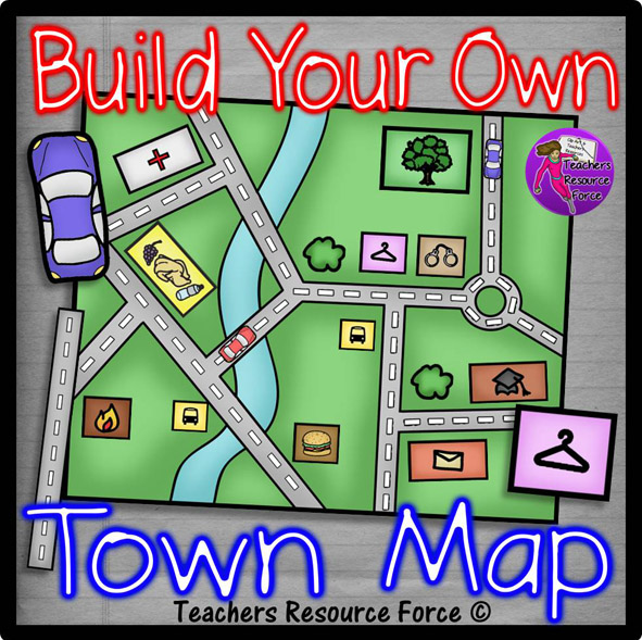 Your 1 Resource For: Build Your Own Town Map Clip Art