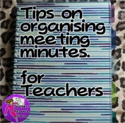 How to organise meeting notes for teachers