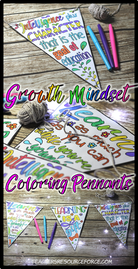 How to get your students positive about learning using Growth Mindset Pennants
