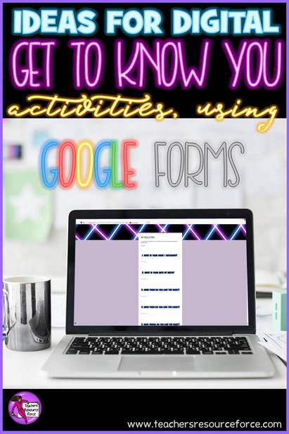 Ideas for getting to know you activities using Google forms