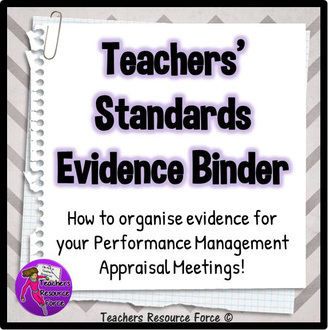 Organise evidence for your Teacher Performance Management appraisal meetings