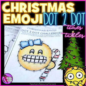 Christmas Emoji Dot to Dot for teaching times tables @resourceforce