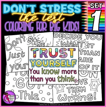 Don't stress the test | TeachersResourceForce.com