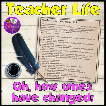 Teacher life - oh times have changed!