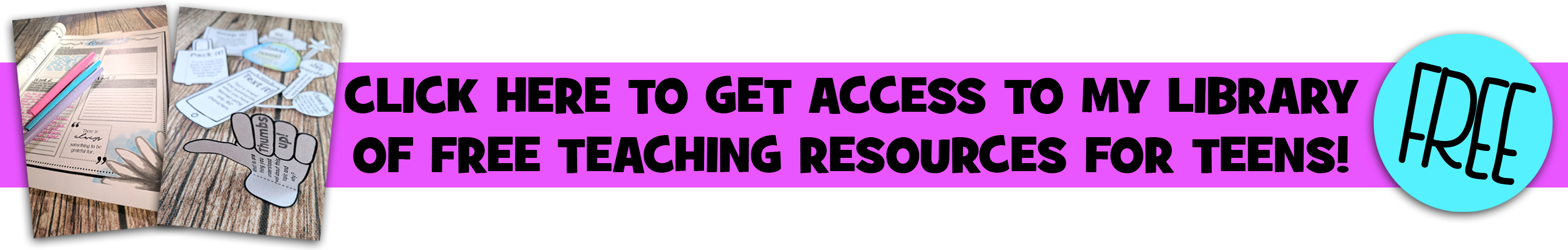 Free teaching resources for teens @resourceforce