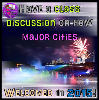 Class discussion on how the world welcomed in a new year