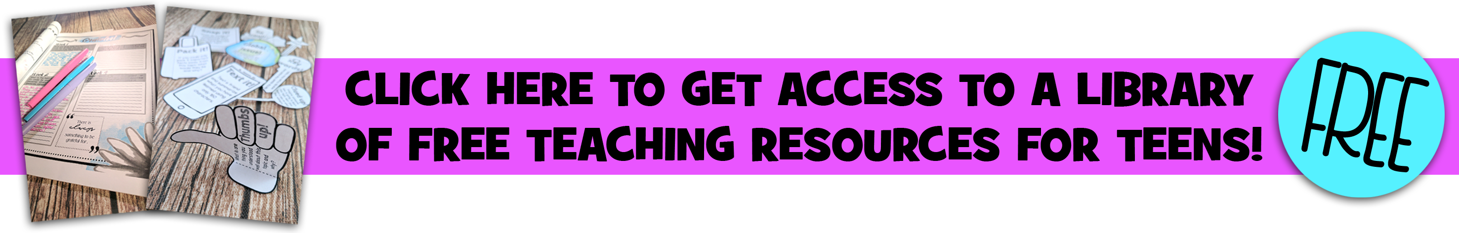 Free teaching resources for teens!