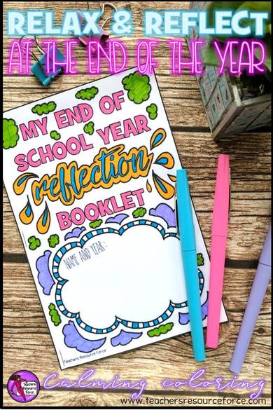 Relax and reflect at the end of the school year with this journal