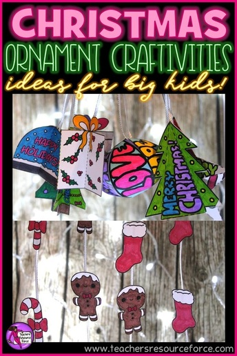 Christmas ornament craftivities ideas for teens