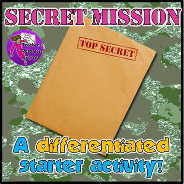 Secret Mission: A great differentiated starter activity