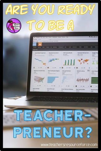 "Are you ready to be a ""teacherpreneur"": teacher by day and business owner by evening, night, weekend any other time you can squeeze in?! www.teachersresourceforce.com"