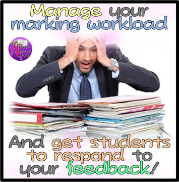 Manage marking workload and get students to respond to feedback