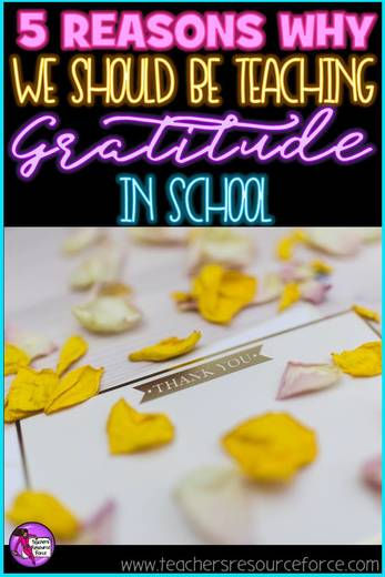 5 reasons to teach gratitude in schools