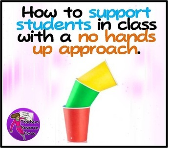 Support students in class with no hands up approach