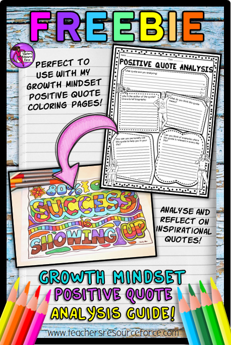 Free growth mindset positive quote analysis