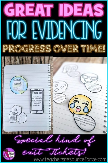Ideas for evidencing progress over time in your lessons; why you shouldn't throw away exit tickets! @resourceforce