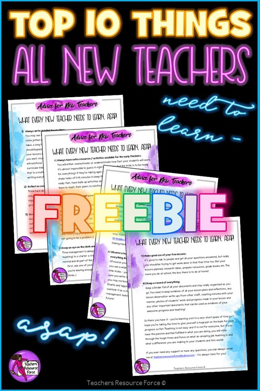 Top 10 things all teachers need to learn freebie