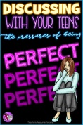 Discussing with your students about the pressures of being perfect