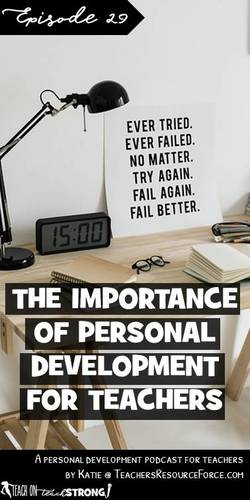 The importance of personal development for teachers