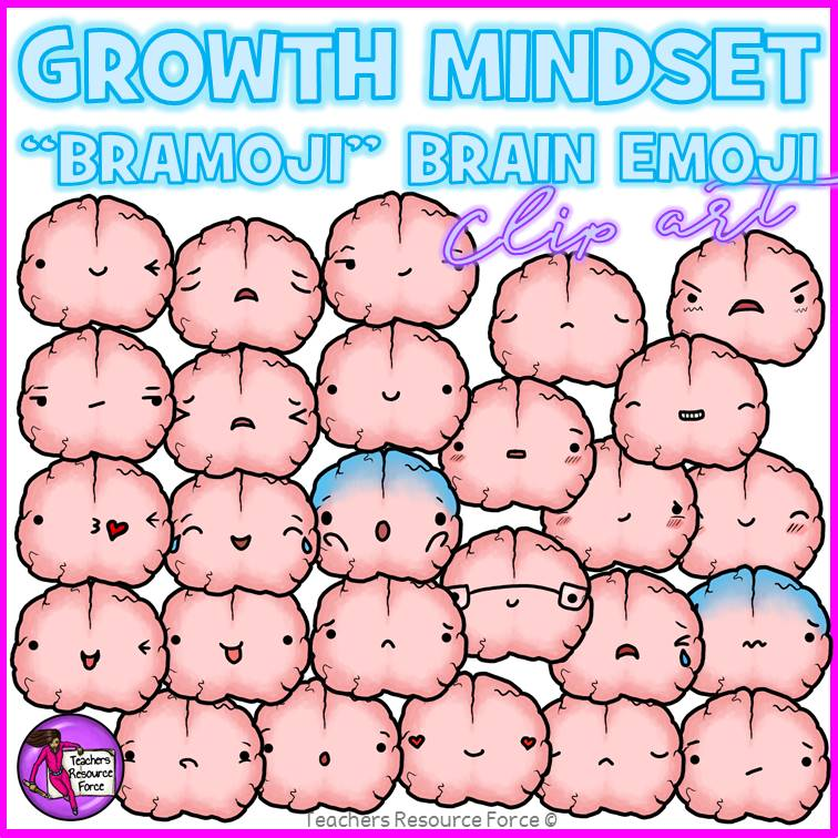 growth mindset brain emoji clip art growth mindset brain emoji clip art