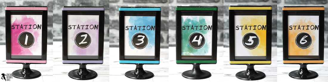 Fun center station signs for the secondary classroom! @resourceforce